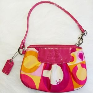 Coach Special Edition Optic Scarf Print Wristlet
